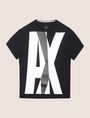 ARMANI EXCHANGE OVERLAPPING LOGO CREW Logo T-shirt Man r