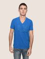 ARMANI EXCHANGE MESH LOGO V-NECK TEE Logo T-shirt Man f