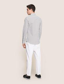 ARMANI EXCHANGE SLIM-FIT PRINTED STRETCH SHIRT Printed Shirt Man e