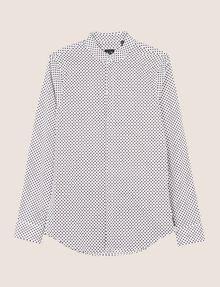 ARMANI EXCHANGE SLIM-FIT PRINTED STRETCH SHIRT Printed Shirt Man r