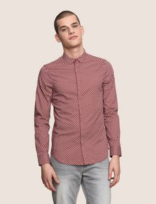 ARMANI EXCHANGE SLIM-FIT PRINTED STRETCH SHIRT Printed Shirt Man f