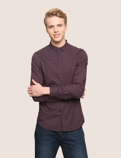 SLIM-FIT PRINTED STRETCH SHIRT