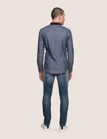 ARMANI EXCHANGE SLIM-FIT DIAMOND JACQUARD SHIRT Plain Shirt [*** pickupInStoreShippingNotGuaranteed_info ***] e