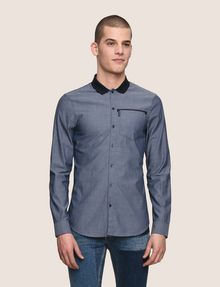 ARMANI EXCHANGE SLIM-FIT DIAMOND JACQUARD SHIRT Plain Shirt Man f
