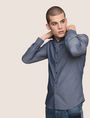 ARMANI EXCHANGE SLIM-FIT DIAMOND JACQUARD SHIRT Plain Shirt Man a