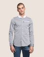 ARMANI EXCHANGE SLIM-FIT DIAMOND JACQUARD SHIRT Plain Shirt [*** pickupInStoreShippingNotGuaranteed_info ***] f
