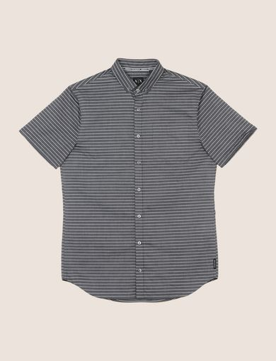 SHORT-SLEEVE MINI-STRIPE SHIRT