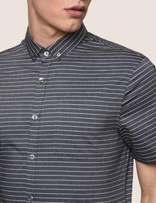 ARMANI EXCHANGE SHORT-SLEEVE MINI-STRIPE SHIRT Short sleeve shirt Man b