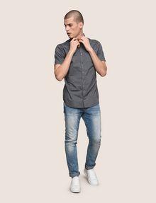 ARMANI EXCHANGE SHORT-SLEEVE MINI-STRIPE SHIRT Short sleeve shirt Man d