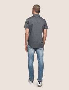 ARMANI EXCHANGE SHORT-SLEEVE MINI-STRIPE SHIRT Short sleeve shirt Man e