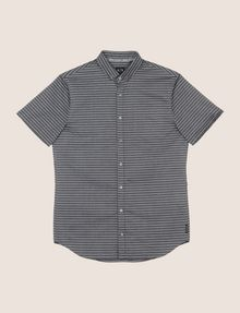 ARMANI EXCHANGE SHORT-SLEEVE MINI-STRIPE SHIRT Short sleeve shirt Man r