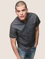 ARMANI EXCHANGE SHORT-SLEEVE MINI-STRIPE SHIRT Short sleeve shirt Man a