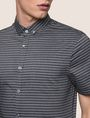 ARMANI EXCHANGE SHORT-SLEEVE MINI-STRIPE SHIRT Short sleeve shirt Man b
