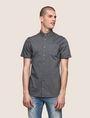 ARMANI EXCHANGE SHORT-SLEEVE MINI-STRIPE SHIRT Short sleeve shirt Man f