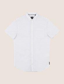 ARMANI EXCHANGE SHORT-SLEEVE MINI-STRIPE SHIRT Short sleeve shirt Man r
