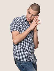 ARMANI EXCHANGE SLIM-FIT GINGHAM SHIRT Short sleeve shirt Man a