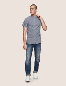 ARMANI EXCHANGE SLIM-FIT GINGHAM SHIRT Short sleeve shirt Man d