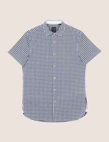 ARMANI EXCHANGE SLIM-FIT GINGHAM SHIRT Short sleeve shirt Man r