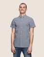 ARMANI EXCHANGE SLIM-FIT GINGHAM SHIRT Short sleeve shirt Man f