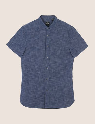 YARN-DYE SLIM-FIT SHIRT