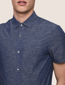 ARMANI EXCHANGE YARN-DYE SLIM-FIT SHIRT Short sleeve shirt [*** pickupInStoreShippingNotGuaranteed_info ***] b