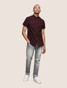 ARMANI EXCHANGE MIXED LOGO SLIM-FIT SHIRT Printed Shirt Man d