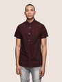 ARMANI EXCHANGE MIXED LOGO SLIM-FIT SHIRT Printed Shirt Man f