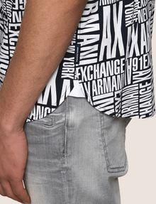 ARMANI EXCHANGE MIXED LOGO SLIM-FIT SHIRT Printed Shirt Man b