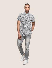 ARMANI EXCHANGE MIXED LOGO SLIM-FIT SHIRT Printed Shirt Man d