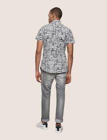 ARMANI EXCHANGE MIXED LOGO SLIM-FIT SHIRT Printed Shirt Man e