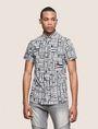 ARMANI EXCHANGE MIXED LOGO SLIM-FIT SHIRT Printed Shirt Man f