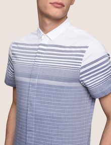ARMANI EXCHANGE MIXED STRIPE SLIM-FIT SHIRT Short-Sleeved Shirt Man b