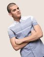 ARMANI EXCHANGE MIXED STRIPE SLIM-FIT SHIRT Short-Sleeved Shirt Man a