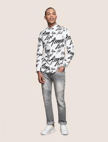 ARMANI EXCHANGE SLIM-FIT PRINTED STRETCH SHIRT Printed Shirt [*** pickupInStoreShippingNotGuaranteed_info ***] d