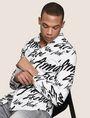 ARMANI EXCHANGE SLIM-FIT PRINTED STRETCH SHIRT Printed Shirt [*** pickupInStoreShippingNotGuaranteed_info ***] a