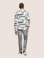 ARMANI EXCHANGE SLIM-FIT PRINTED STRETCH SHIRT Printed Shirt [*** pickupInStoreShippingNotGuaranteed_info ***] e