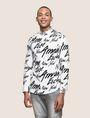 ARMANI EXCHANGE SLIM-FIT PRINTED STRETCH SHIRT Printed Shirt [*** pickupInStoreShippingNotGuaranteed_info ***] f