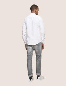 ARMANI EXCHANGE SLIM-FIT STRETCH OVERLAP PLACKET SHIRT Printed Shirt Man e