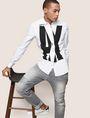 ARMANI EXCHANGE SLIM-FIT STRETCH OVERLAP PLACKET SHIRT Printed Shirt Man a