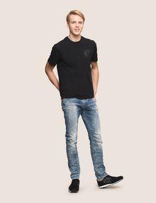 ARMANI EXCHANGE SHINE COLORBLOCK HEM TEE Logo T-shirt Man e