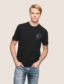 ARMANI EXCHANGE SHINE COLORBLOCK HEM TEE Logo T-shirt Man f