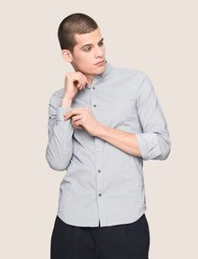 ARMANI EXCHANGE SLIM-FIT STRETCH SNAP SHIRT Striped Shirt Man a