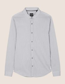 ARMANI EXCHANGE SLIM-FIT STRETCH SNAP SHIRT Striped Shirt Man r