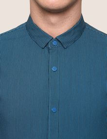 ARMANI EXCHANGE SLIM-FIT STRETCH SNAP SHIRT Striped Shirt [*** pickupInStoreShippingNotGuaranteed_info ***] b