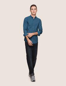ARMANI EXCHANGE SLIM-FIT STRETCH SNAP SHIRT Striped Shirt [*** pickupInStoreShippingNotGuaranteed_info ***] d