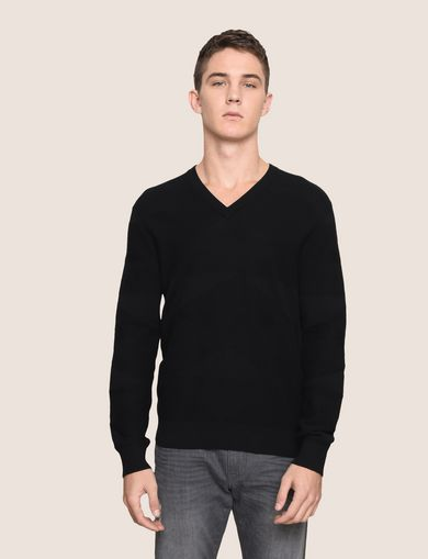 TONAL TRIANGLE V-NECK SWEATER