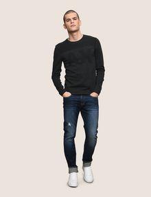 ARMANI EXCHANGE TONAL LOGO CREWNECK SWEATER Pullover Man d