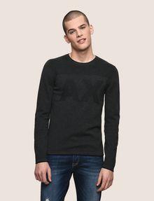 ARMANI EXCHANGE TONAL LOGO CREWNECK SWEATER Pullover Man f
