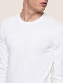 ARMANI EXCHANGE TONAL LOGO CREWNECK SWEATER Pullover Man b