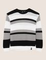 ARMANI EXCHANGE MULTI STRIPE TEXTURED SWEATER Crew Neck Man r